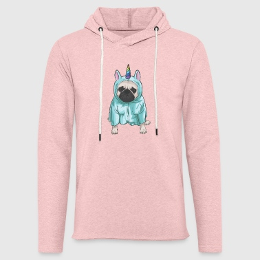 Mopsicorn Vol. 2 | Pug as unicorn - Light Unisex Sweatshirt Hoodie