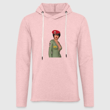 Femme militaire pin up sexy us - Sweat-shirt à capuche léger unisexe