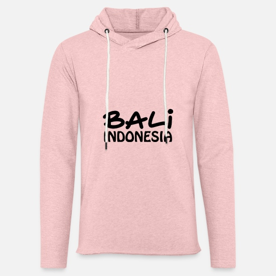 Bali Sweat-shirts - Bali - Sweat à capuche léger unisexe rose crème chiné