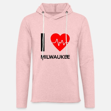 Milwaukee I Love Milwaukee - Rakastan Milwaukee - Kevyt unisex-huppari