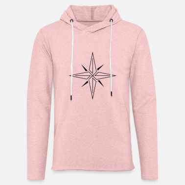 Graphic Art Line Compass Rose (Schwarz) - Unisex Kapuzen-Sweatshirt