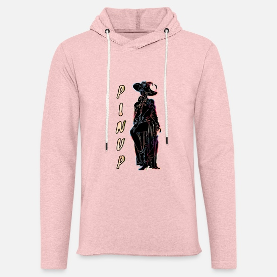 Sexy Mum Hoodies & Sweatshirts - CLASSIC PINUP WOMAN BLACK - Unisex Sweatshirt Hoodie cream heather pink