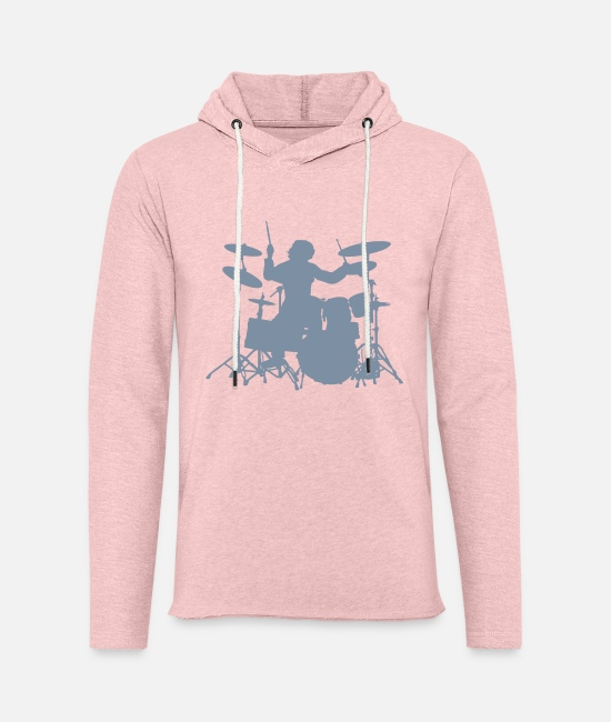 Pearl Hoodies & Sweatshirts - Drums - Unisex Sweatshirt Hoodie cream heather pink