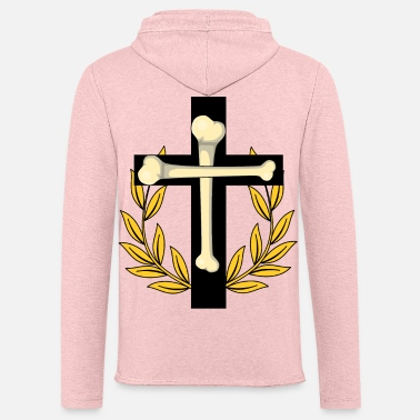 Laurel Wreath Cross Faith Christ Religion Jesus Crosses - Unisex Sweatshirt Hoodie