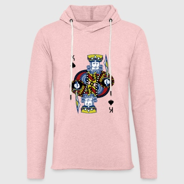 King of Spades Hold'em Poker - Lekka bluza z kapturem – typu unisex