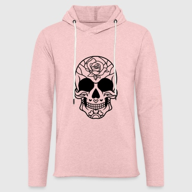 Sugar Skull Mexican rose / sugar skull - Light Unisex Sweatshirt Hoodie