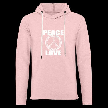 Peace Love T-Shirt Peace and Love Peace Sign - Light Unisex Sweatshirt Hoodie