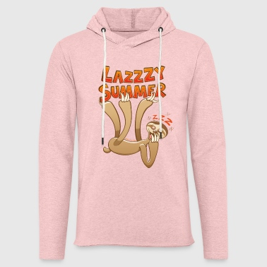 Sleepy sloth yawning and enjoying a lazy summer - Light Unisex Sweatshirt Hoodie