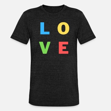 Love, Liebe, Colourful | Tee with a cause - Unisex T-Shirt meliert