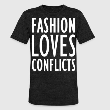 Conflict FASHION LOVES CONFLICTS 2reborn - Unisex Tri-Blend T-Shirt by Bella & Canvas