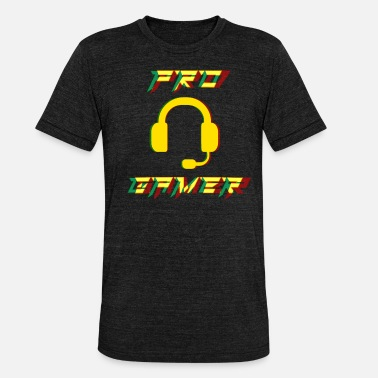 Pro Pro Gamer Gaming Headset Gamer - Unisex T-Shirt meliert