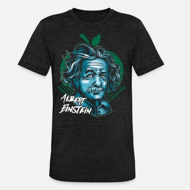 Scientifico Einstein Mela di Albert Einstein - Maglietta unisex tri-blend di Bella + Canvas