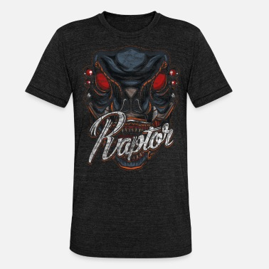 Scifi Cyborg Raptor Dinosaur Scifi - Unisex Tri-Blend T-Shirt by Bella & Canvas