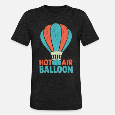 Hot Hot air balloon gave kurv airship ild - Unisex triblend T-shirt