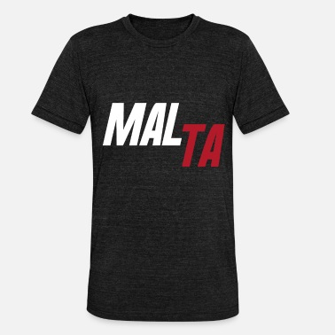 Countries Malta country and countries - Unisex Tri-Blend T-Shirt by Bella & Canvas