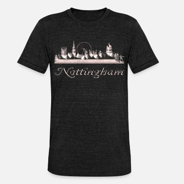 Nottingham Nottingham - Camiseta Tri-Blend unisex de Bella + Canvas