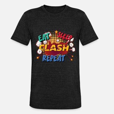 Clash Eat, Sleep, Clash, Repeat - Unisex T-Shirt meliert