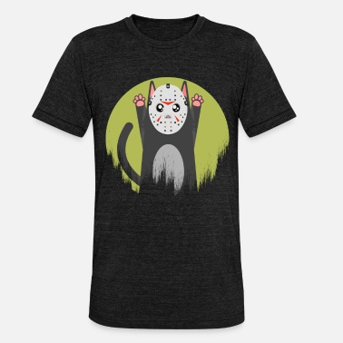 Maske Cat Meow Cat Maske Scary Creepy Jason - Unisex triblend T-shirt