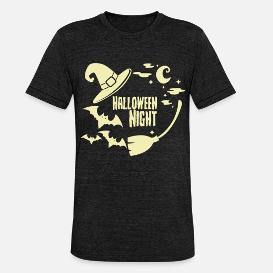 Halloween T-Shirts - Halloween - Unisex Tri-Blend T-Shirt heather black