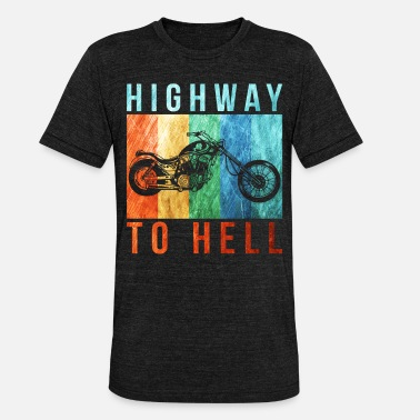 Highway To Hell highway to hell - Unisex Tri-Blend T-Shirt