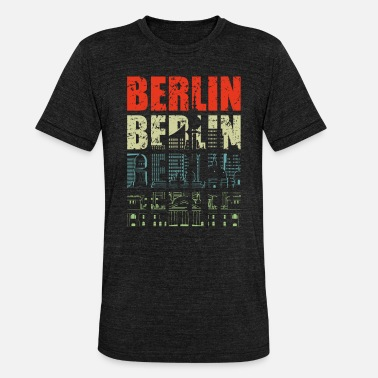 Federal Capital Berlin capital skyline - Unisex Tri-Blend T-Shirt
