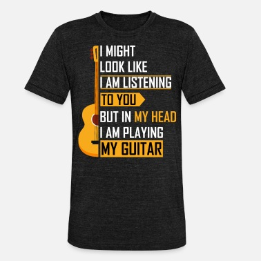 Player Guitar guitar player gift - Unisex Tri-Blend T-Shirt