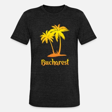 Vacation Bucharest dream vacation with sun - Unisex Tri-Blend T-Shirt