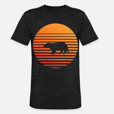 Badger silhuette in the sunset - Unisex Tri-Blend T-Shirt