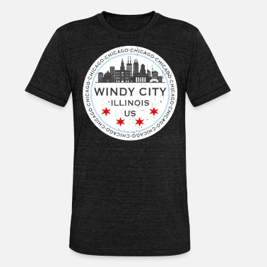Windy City The Windy City Chicago Illinois USA - Triblend T-shirt unisex
