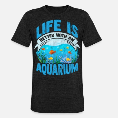 Aquatic Aquarium Leben Aquascaping Aquatic Goldfisch - Unisex T-Shirt meliert