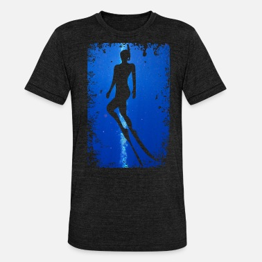 Diver Diving Apnea Scuba Divers Water Sea - Unisex Tri-Blend T-Shirt