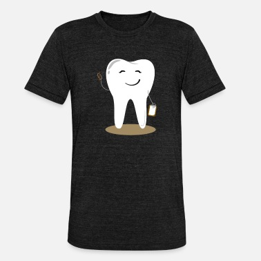 Clean Code Accounting, teeth, dental care, dentist, cleaning - Unisex Tri-Blend T-Shirt by Bella & Canvas