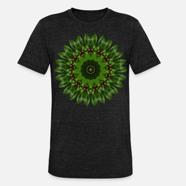 Patterns Banana Leaf - Kaleidoscope Nature Pattern - Unisex Tri-Blend T-Shirt by Bella & Canvas