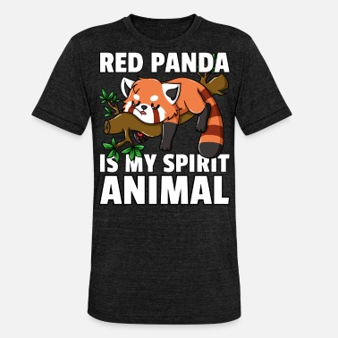 Red Red Panda Panda Funny Funny Red - Unisex Tri-Blend T-Shirt