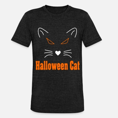 Halloween Cat Halloween Cat - Unisex Tri-Blend T-Shirt by Bella & Canvas
