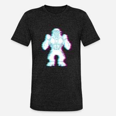 Alien Vintage Bigfoot Glitch conspiracy theory - Unisex Tri-Blend T-Shirt
