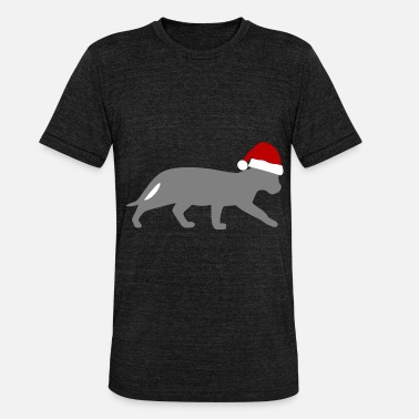 chat de Noël - T-shirt chiné unisexe
