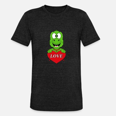 Love With Heart Gecko - Lizard - Heart - Love - Love - Animal - Child - Unisex Tri-Blend T-Shirt