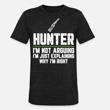 Coffee Hunter I'm Not Arguing I'm Just Explaining Why - Unisex Tri-Blend T-Shirt