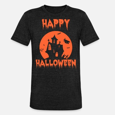 Pumpkin Happy Halloween Shirt - Unisex Tri-Blend T-Shirt