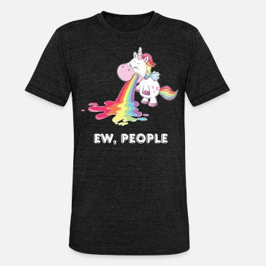 Unicorn Ew, mensen, Unicorn - Unisex triblend T-shirt
