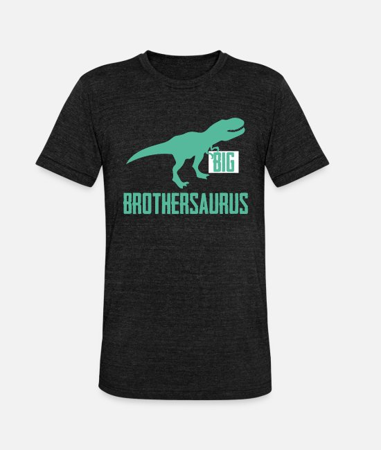 Reptile T-Shirts - Big Brothersaurus Big Brother Announcement Dino - Unisex Tri-Blend T-Shirt heather black