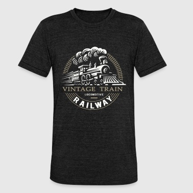 Railway Engineering Locomotive, railway, steam locomotive - Unisex Tri-Blend T-Shirt by Bella & Canvas