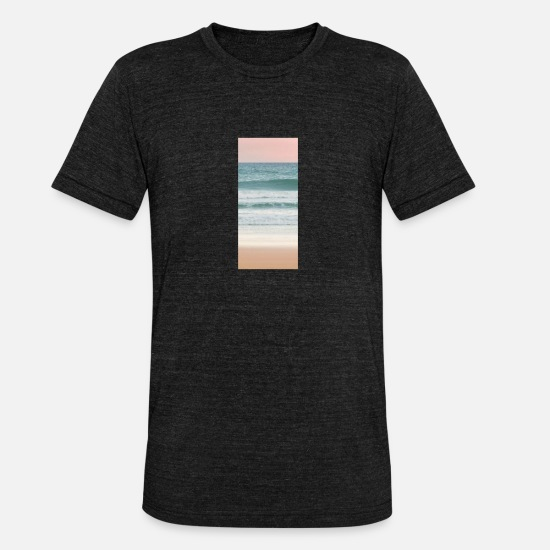 Waves T-Shirts - Beach - Unisex Tri-Blend T-Shirt heather black