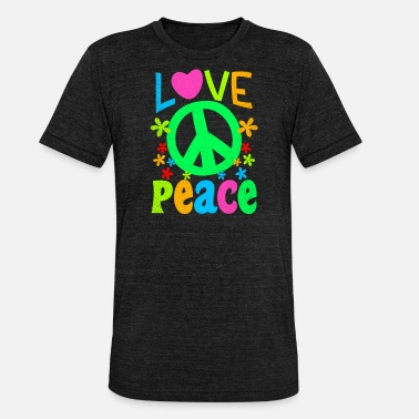 Groovy 60s Groovy Love Peace Sign Gift - Unisex Tri-Blend T-Shirt by Bella & Canvas
