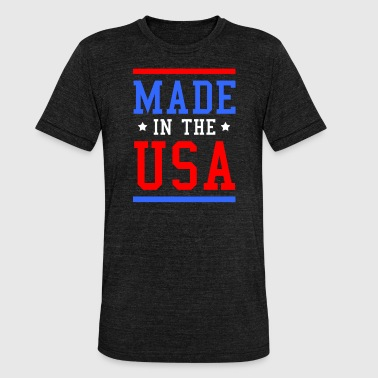 Murica Murica Fourth of July Vlaggift van de VS. - Unisex tri-blend T-shirt van Bella + Canvas