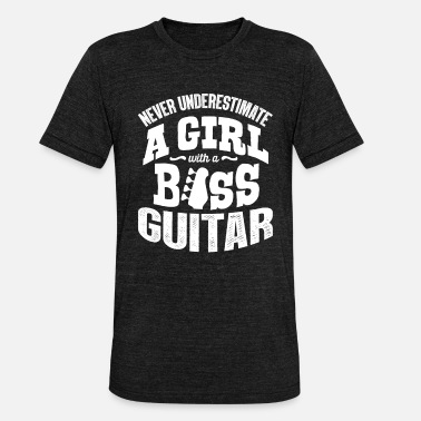 Bass Bass guitar - Unisex Tri-Blend T-Shirt