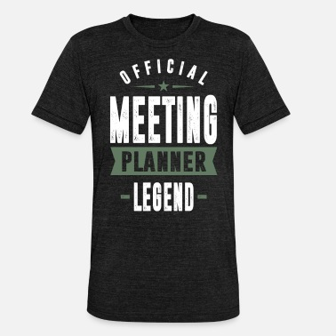 Meeting Table Meeting Planner Legend - Unisex Tri-Blend T-Shirt