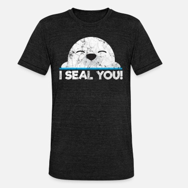 Wale Animals Sea lion - Unisex Tri-Blend T-Shirt