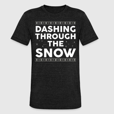 Tumbling Christmas - tumbling through the snow - Unisex Tri-Blend T-Shirt by Bella & Canvas